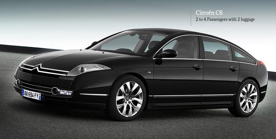 rent citroen C6 limousine on our Limousine service in Paris