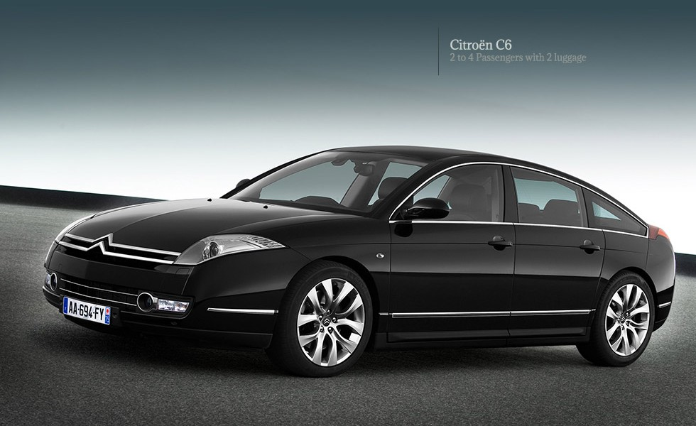 Citroen C6 Sedan of Paris Limousine with 2 to 4 passengers