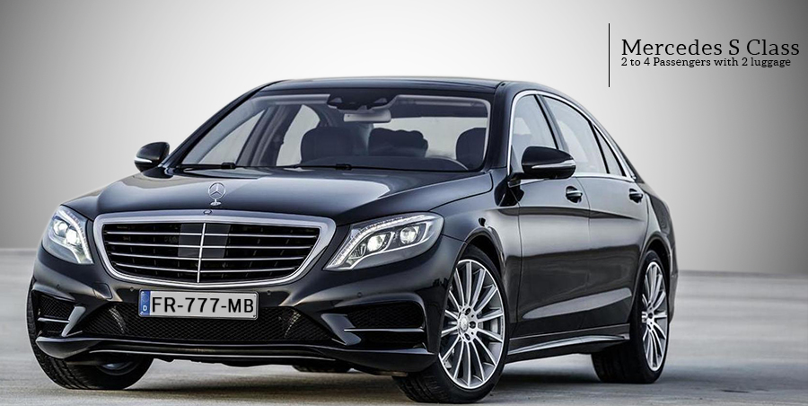 Mercedes e-class Limousine with chauffeur on Paris Limousine Car Service