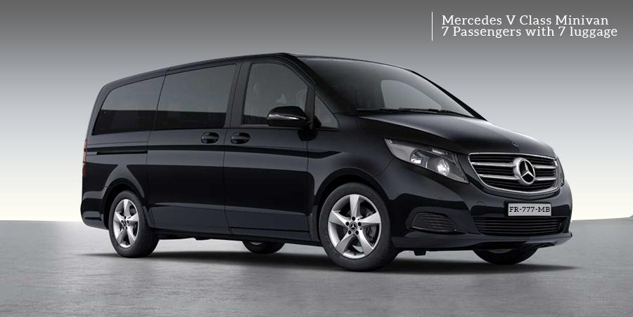 Mercedes Minivan Viano Limousine to rent on Paris Limousine Car Service